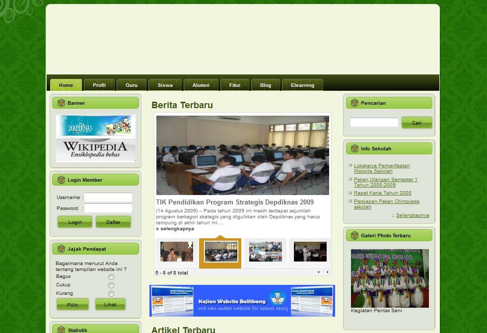 Download Template Websekolah Pengguna CMS Balitbang