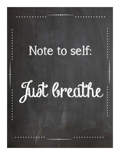 just breathe chalkboard