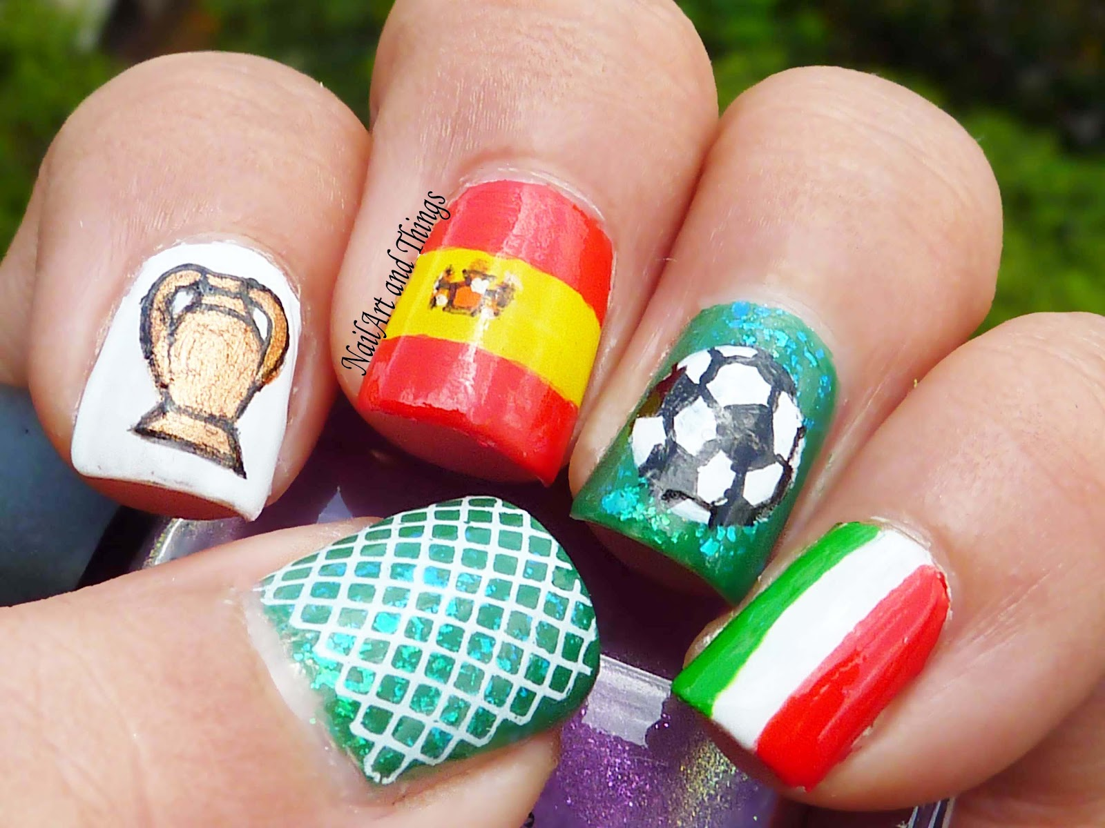 Football Fever Uefa Nail Art Nail Art