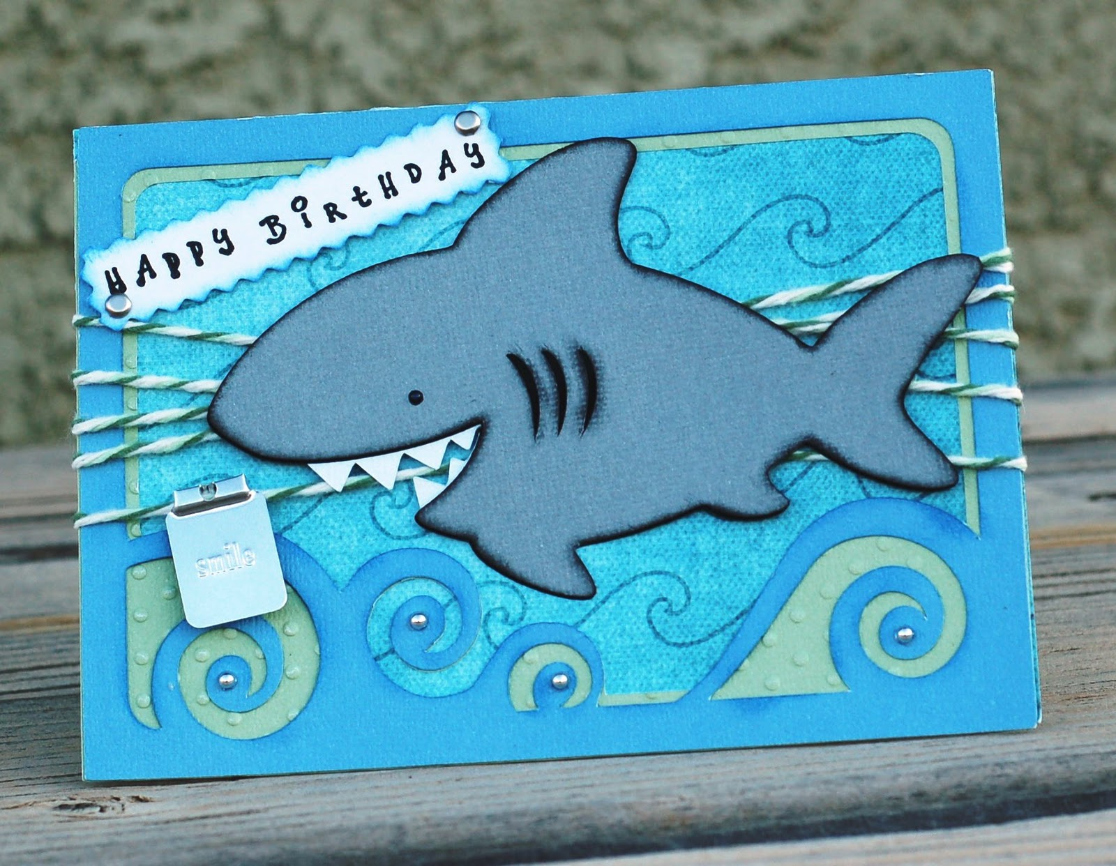 paper creations by kristin shark cardhappy birthday, Birthday card