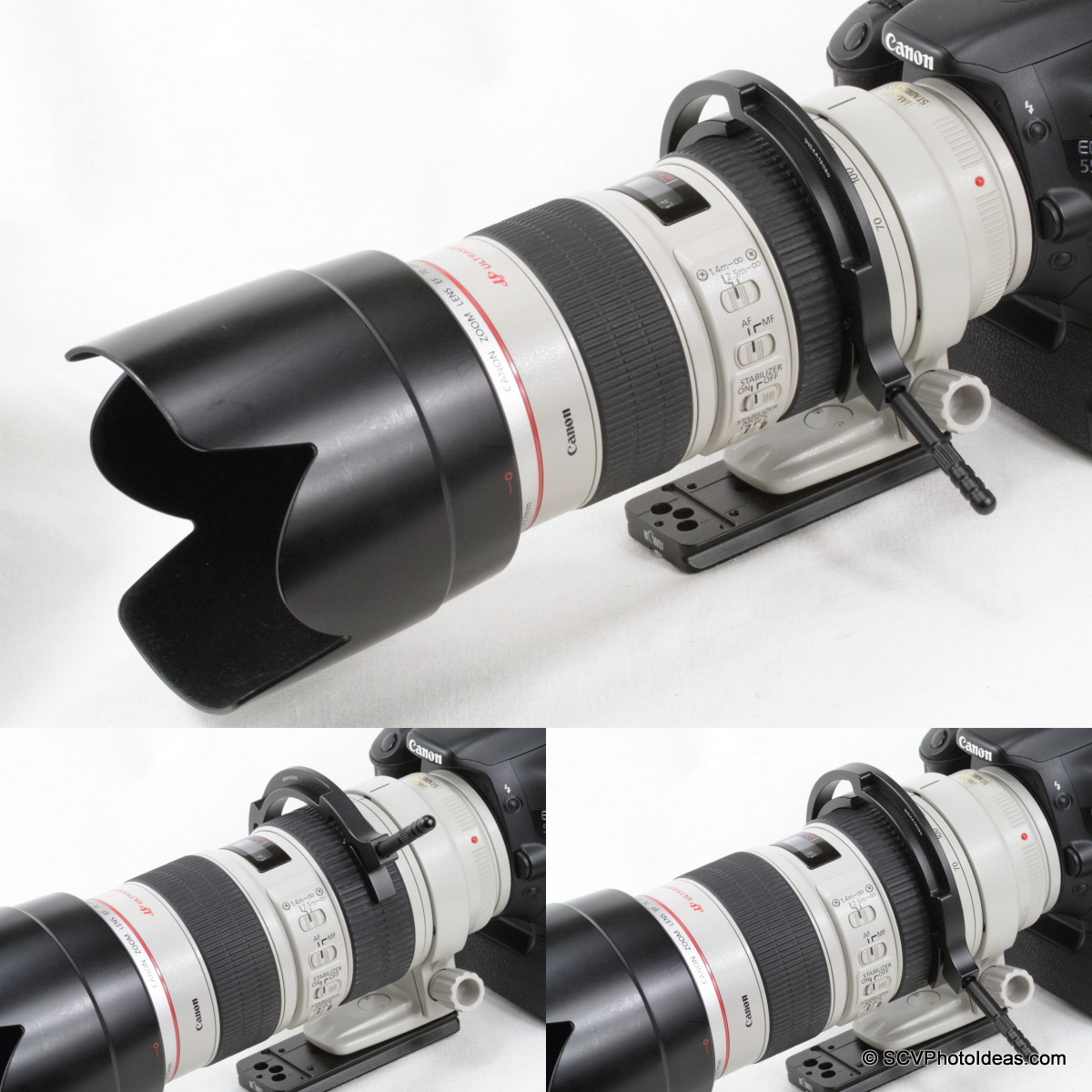 Sunwayfoto DRH-77 Focusing Handle on Canon EF 70-200 L IS USM zoom ring