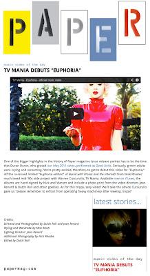 Dutch Rall Miss Mosh Jean Renard Paper Magazine TV Mania Euphoria