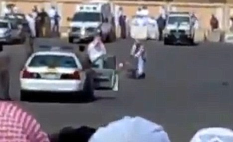 Public execution in a parking lot in Saudi Arabia