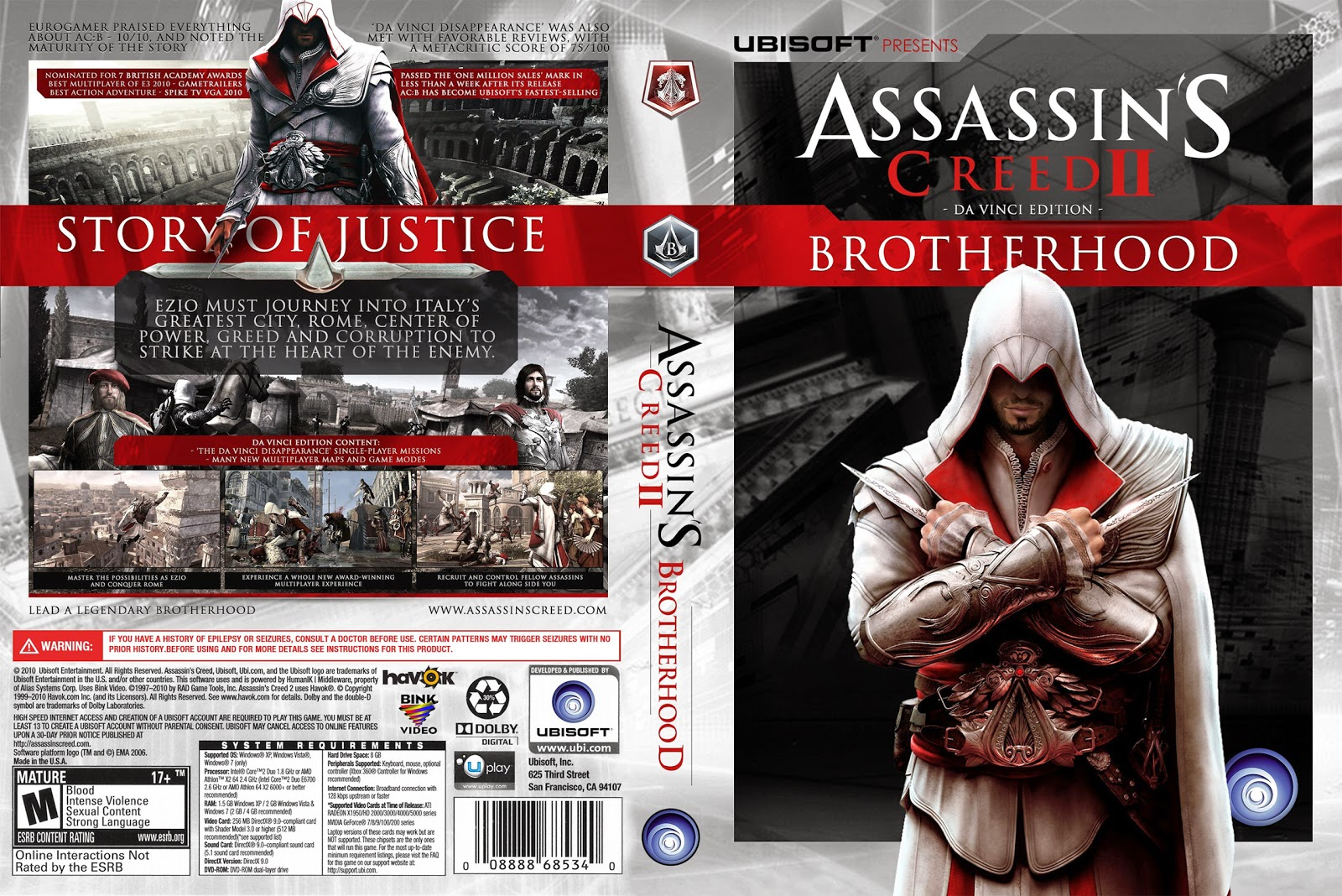 Capa Assassins Creed Brotherhood PC