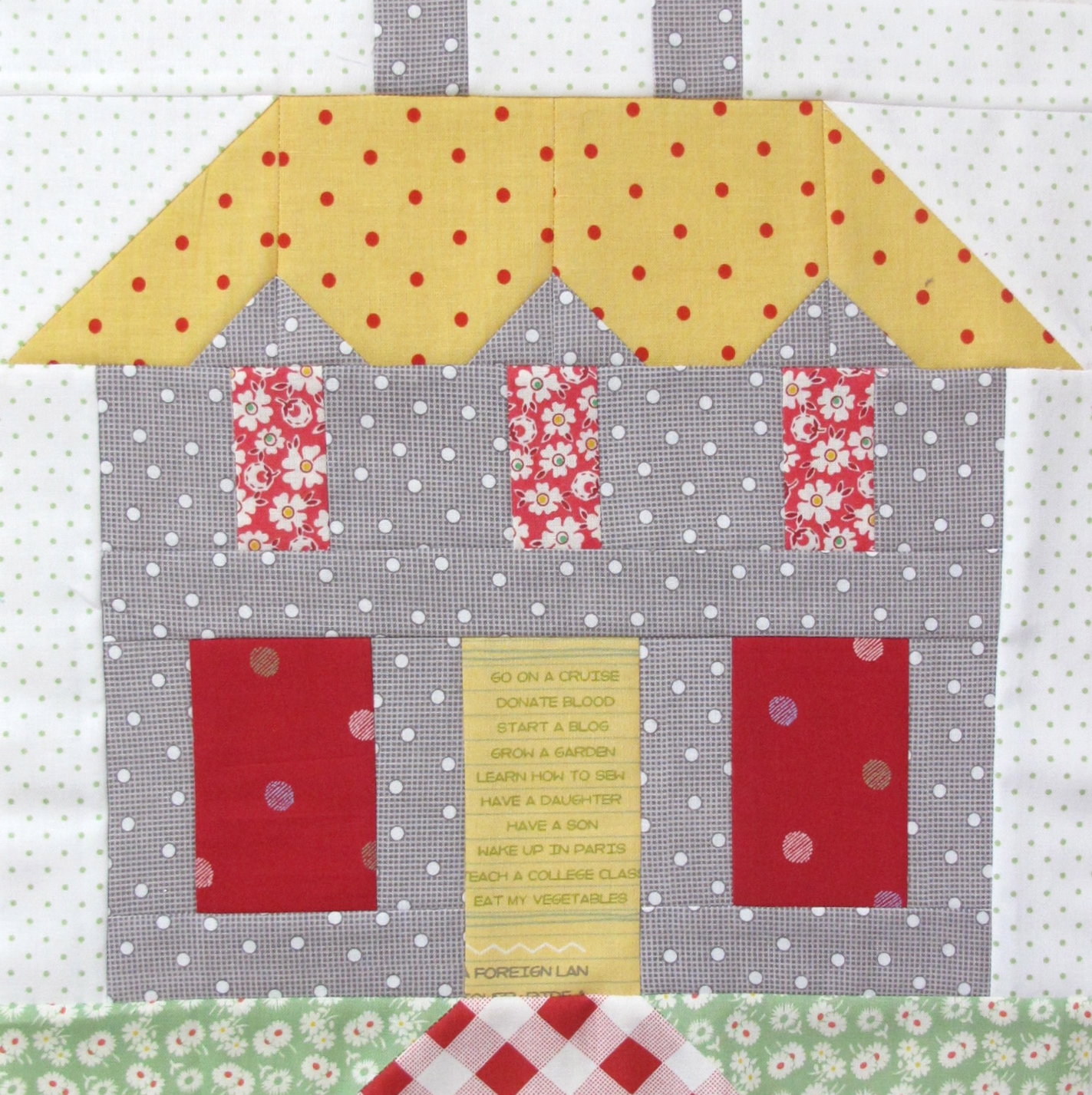 Quilt Block Patterns Of Houses : Bee In My Bonnet: My Home Sweet Home Quilt Block Pattern - In Quiltmakers Magazine 100 Blocks!!!