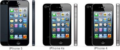 iPhone 5,iPhone 4s,iPhone 4