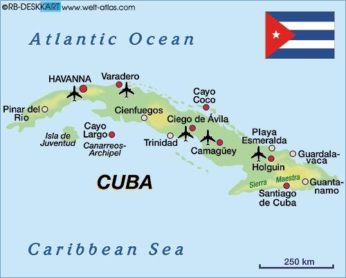 mapa de cuba turistico