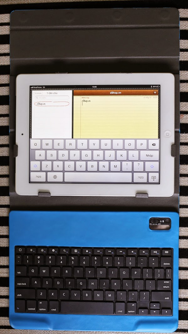 bao da và bàn phím ipad 1