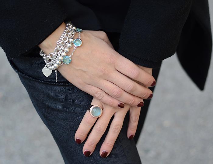 anello bracciale raso gioielli