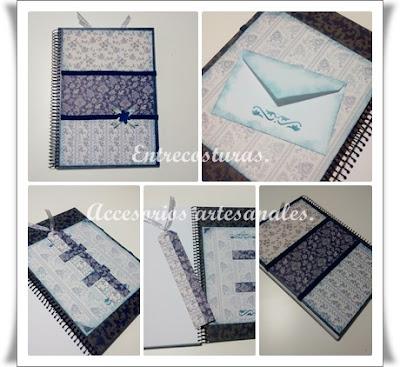 Cuadernos scrap 04. Entrecosturas. Accesorios artesanales.
