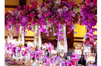 Sophisticated Purple Wedding Table Decorations