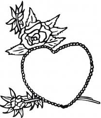 heart coloring pages, flower coloring pages