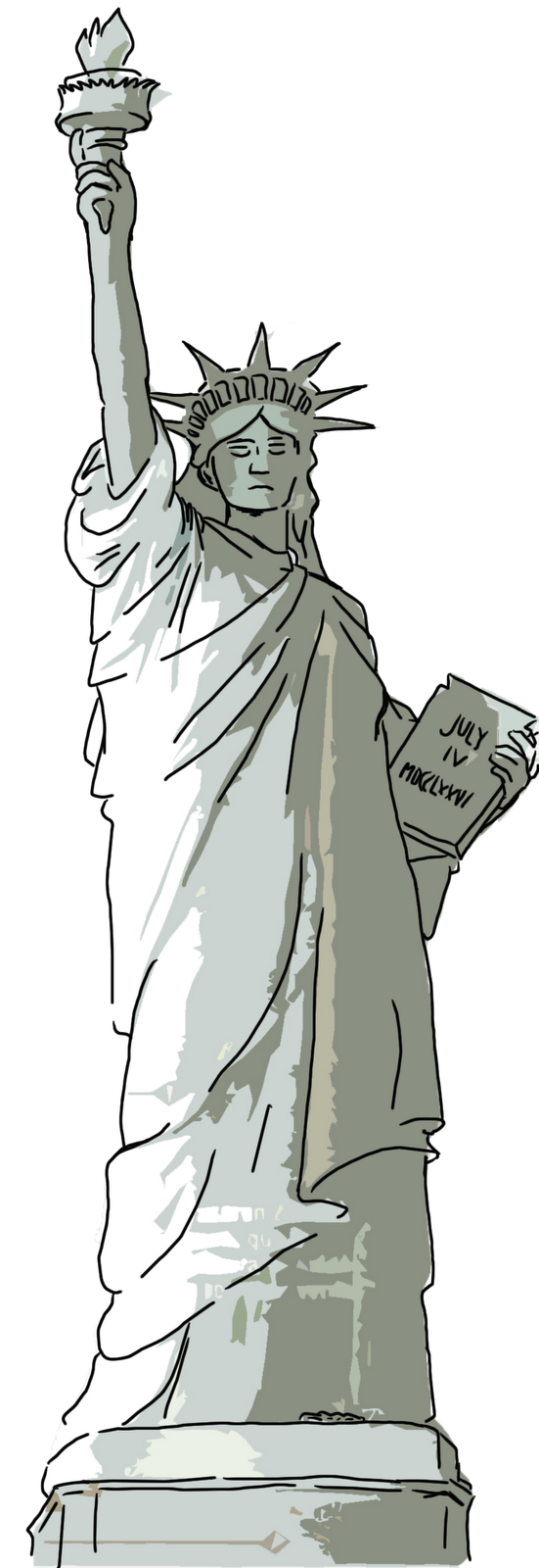 Caballeros molinienses la se ora libertad for Interior estatua de la libertad