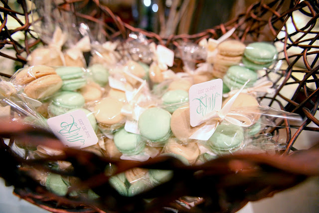 Minneapolis Edible Guest Favors by Cocoa & Fig - 2 French Macarons