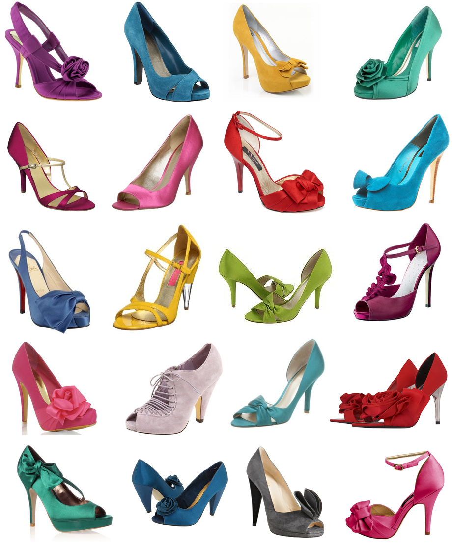 The Colorful White: Colorful Wedding Shoes