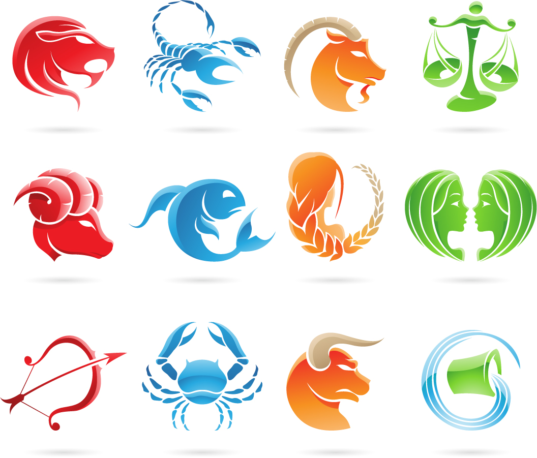 十二星座サインのクリップアート Zodiac Signs Vector Graphic イラスト素材