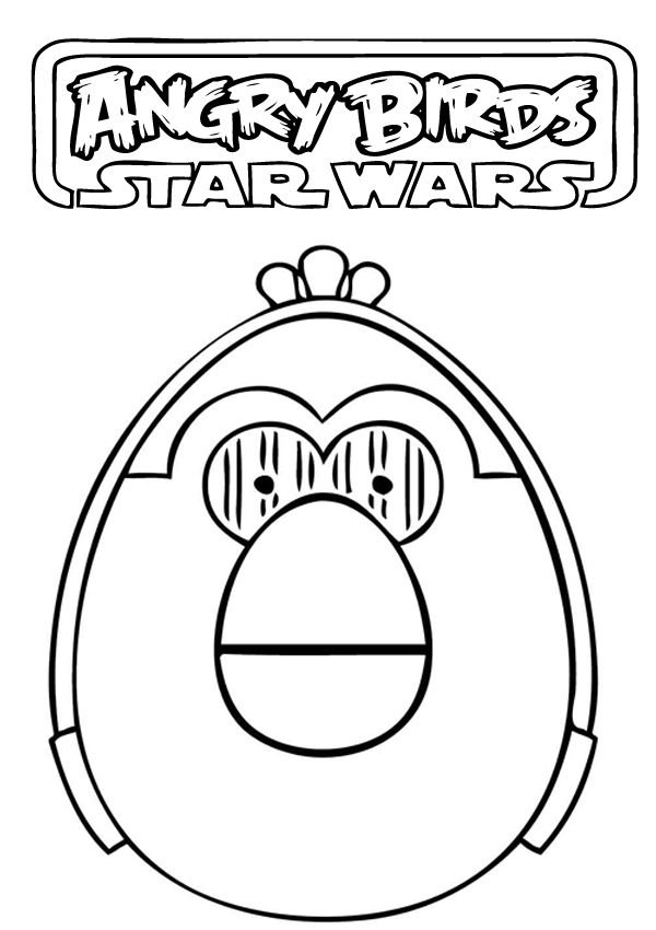 printable angry birds star wars coloring pages. Angry Birds Star Wars Coloring Pages  Cartoon