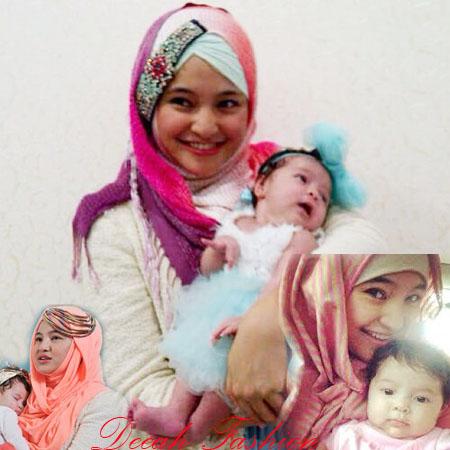 Busana Marshanda dan Anaknya Siena Amira Kasyafani