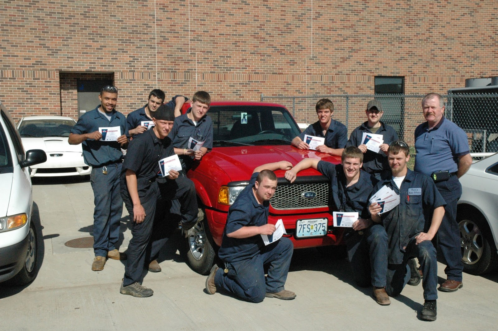 Cacc news automotive technicians receive ase certification john greens am automotive technology class xflitez Choice Image