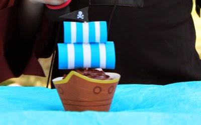 Cupcake barco pirata