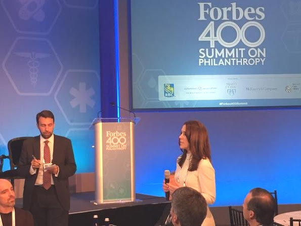 Princess Mary Attended Forbes 400 Summit On Philanthropy In New York