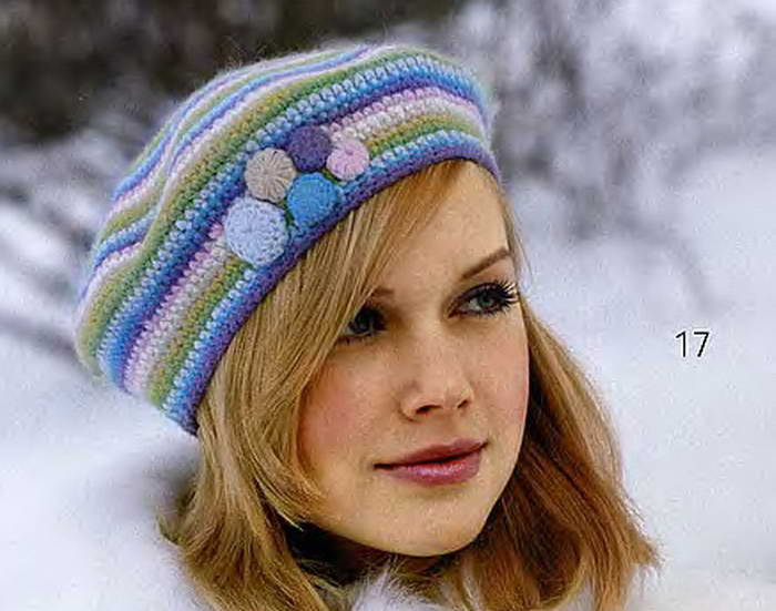 Womens Knit Hat Pattern : free knitting pattern: ladies knitted hat patterns