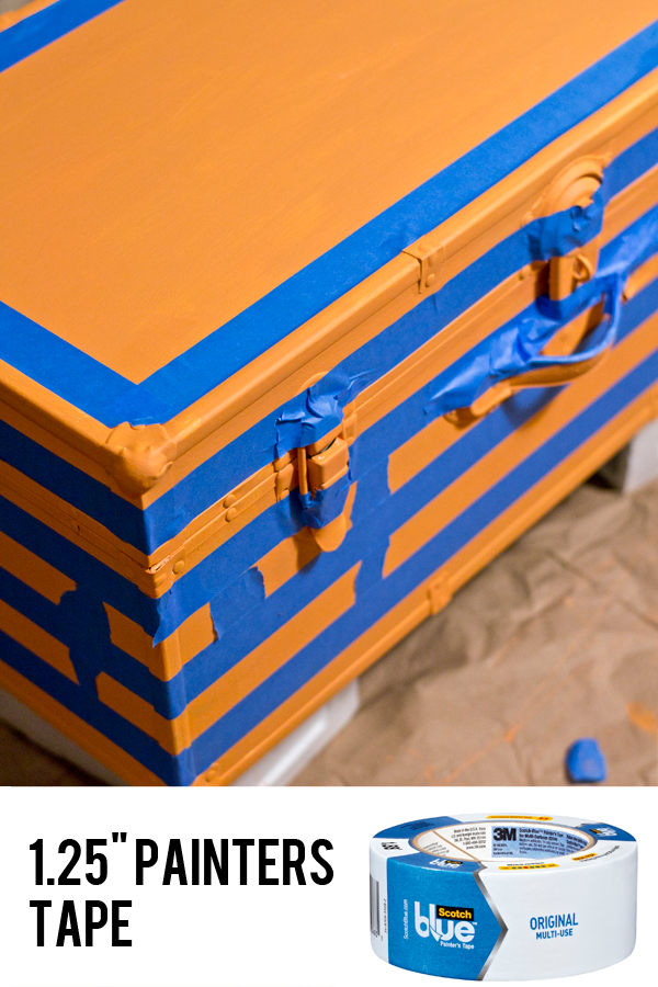 taping off stripes on furniture