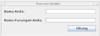 Aplikasi True Love Calculator dengan Java