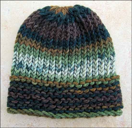 Different Knitting Stitches For Hats : Knitting With Looms: Loom Knit Mens Hats