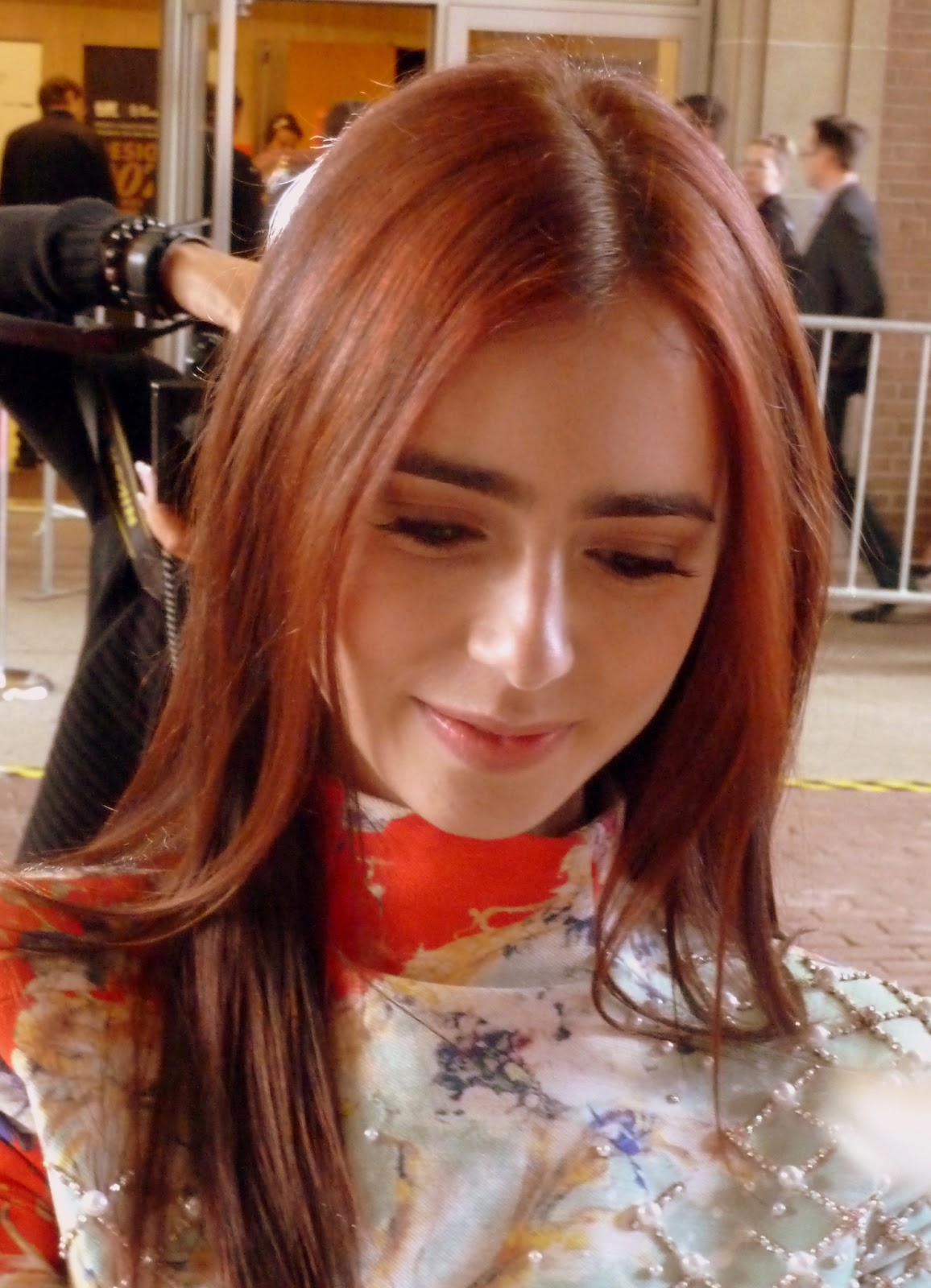 Lily collins red hair 2013