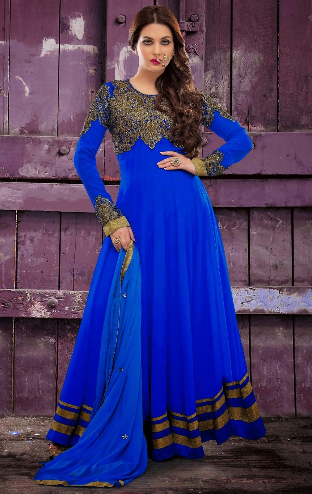 Faux Georgette Peach Designer Embroidery Anarkali Suit with Dupatta