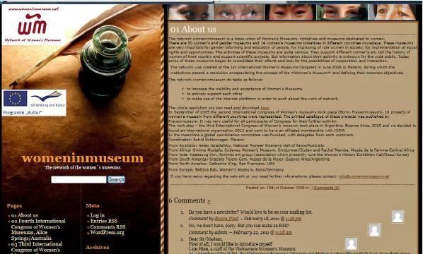 http://www.womeninmuseum.net/blog/?page_id=2