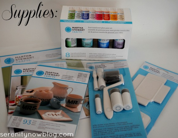 Supplies for Glass Painting, from Serenity Now blog