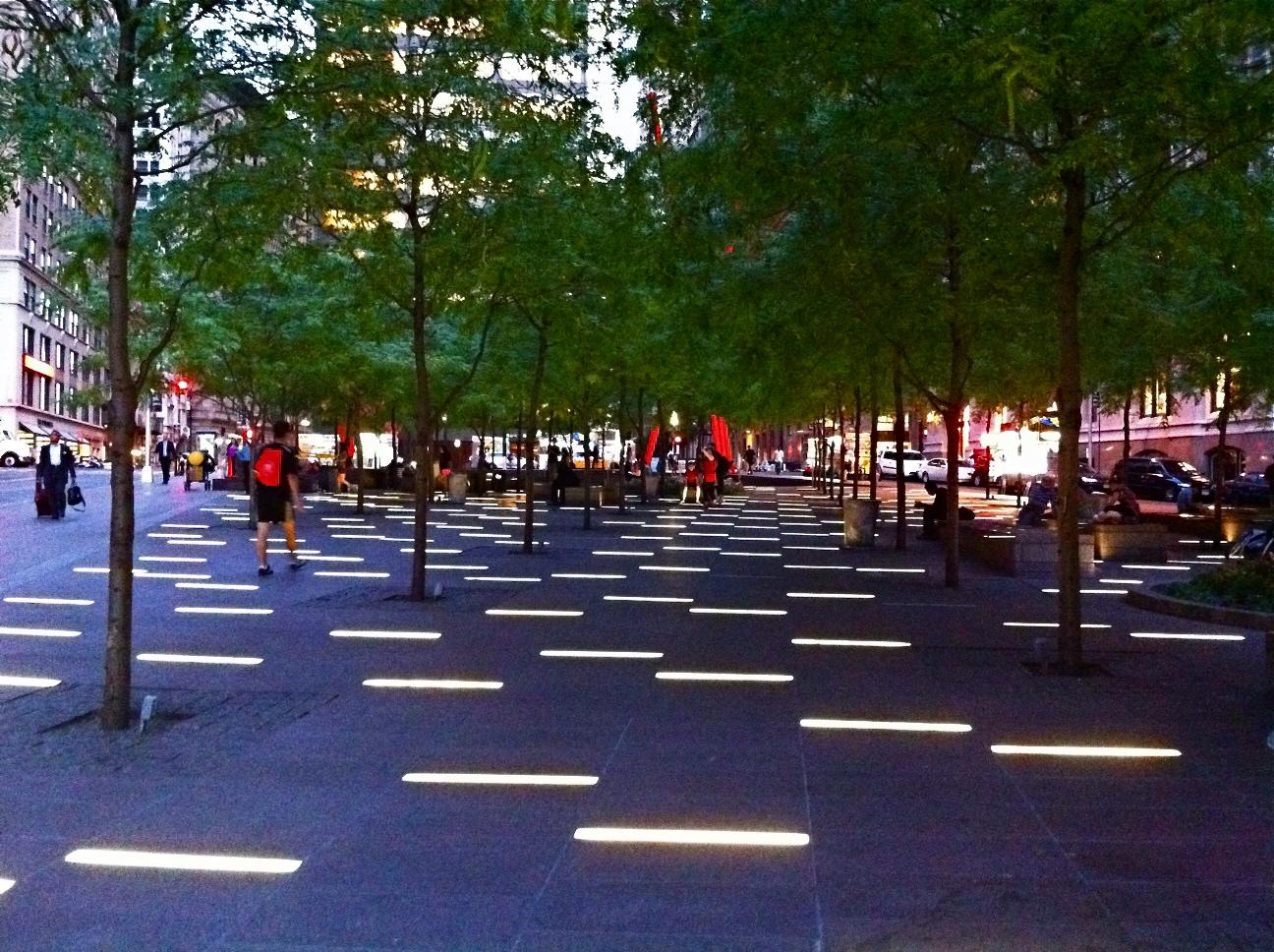 NYC NYC Zuccotti Park After Dark