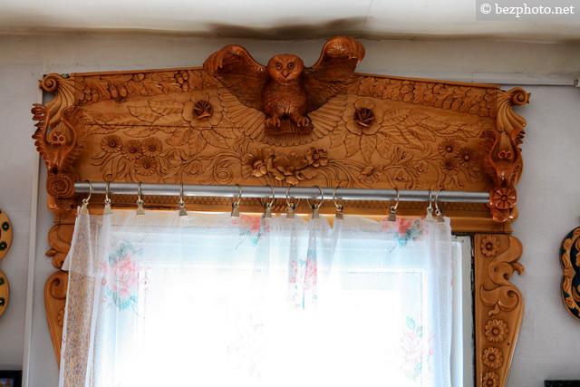красивый интерьер деревянного дома
