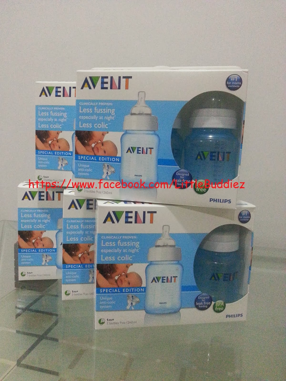 Original Philips Avent Special Edition Triple 9oz - Blue