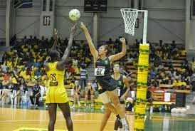 A few players playing netball