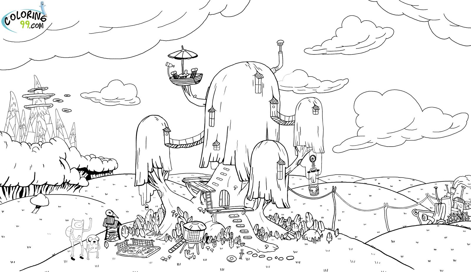 Adventure Time Coloring Pages | Minister Coloring