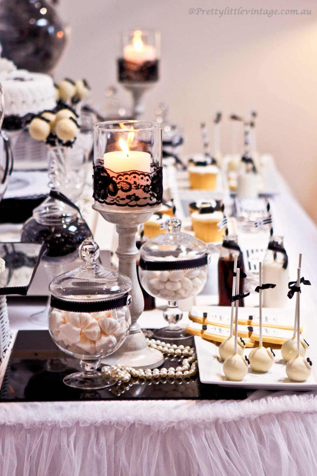 Little big company the blog chanel no 30 themed table by pretty little vintage melbourne - French themed table decorations ...