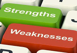 Strengths and Weaknesses keyboard buttons