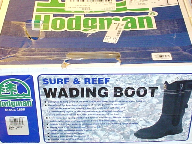 Hodgman surf reef fishing wading boot waders 100 ebay for Surf fishing waders