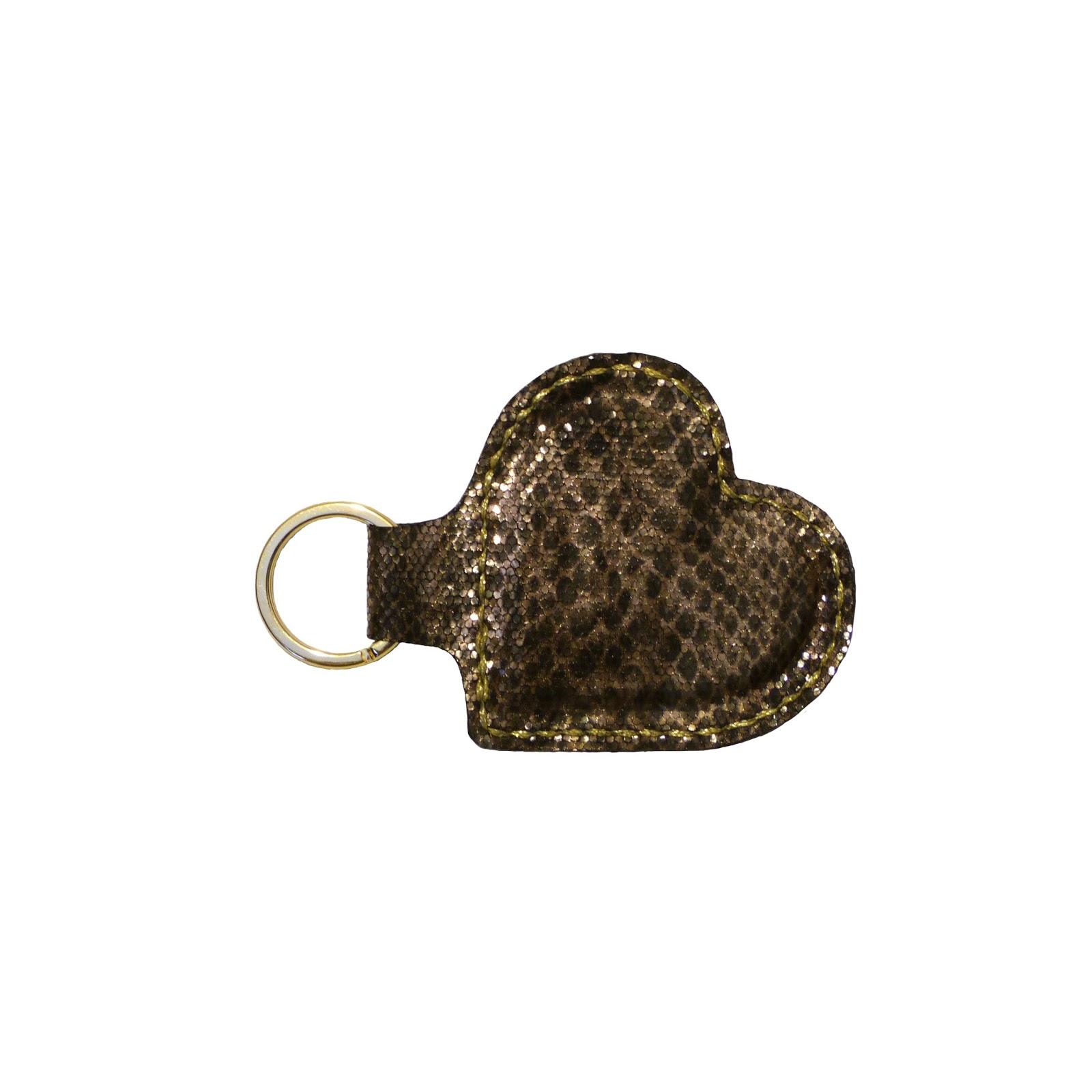 Imagen del llavero San Valentín piel de serpiente