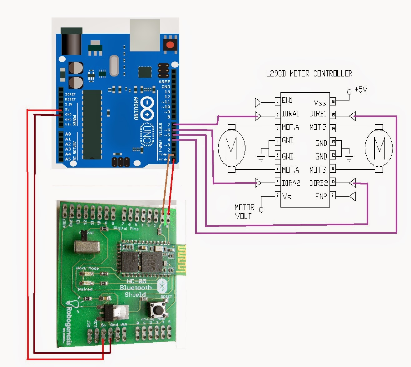 Robo Zone Bluetooth Controlled Robot Using Arduino Circuit Diagram Of Device