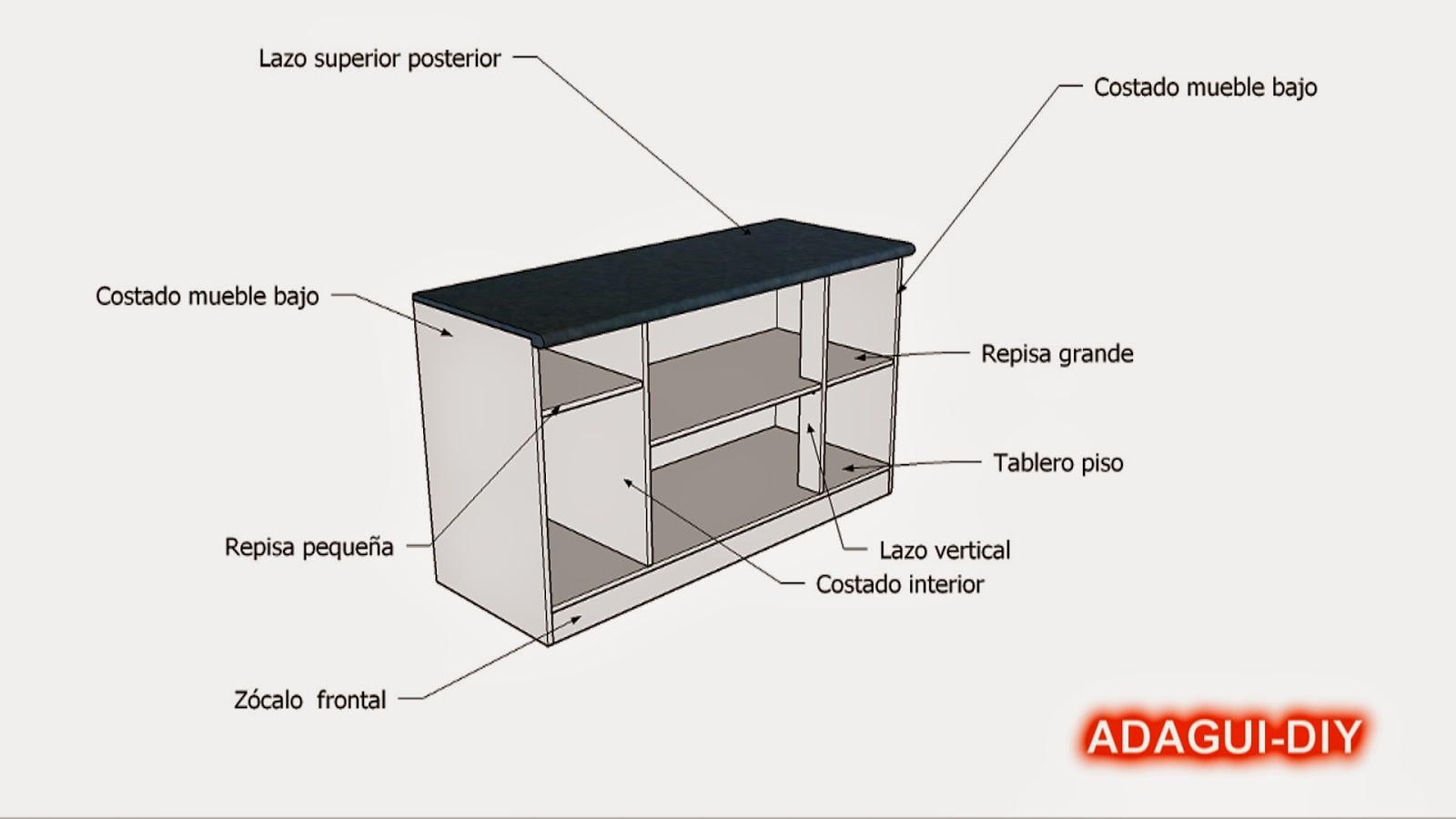 Como hacer muebles de cocina  vídeo como hacer mesada de melamina