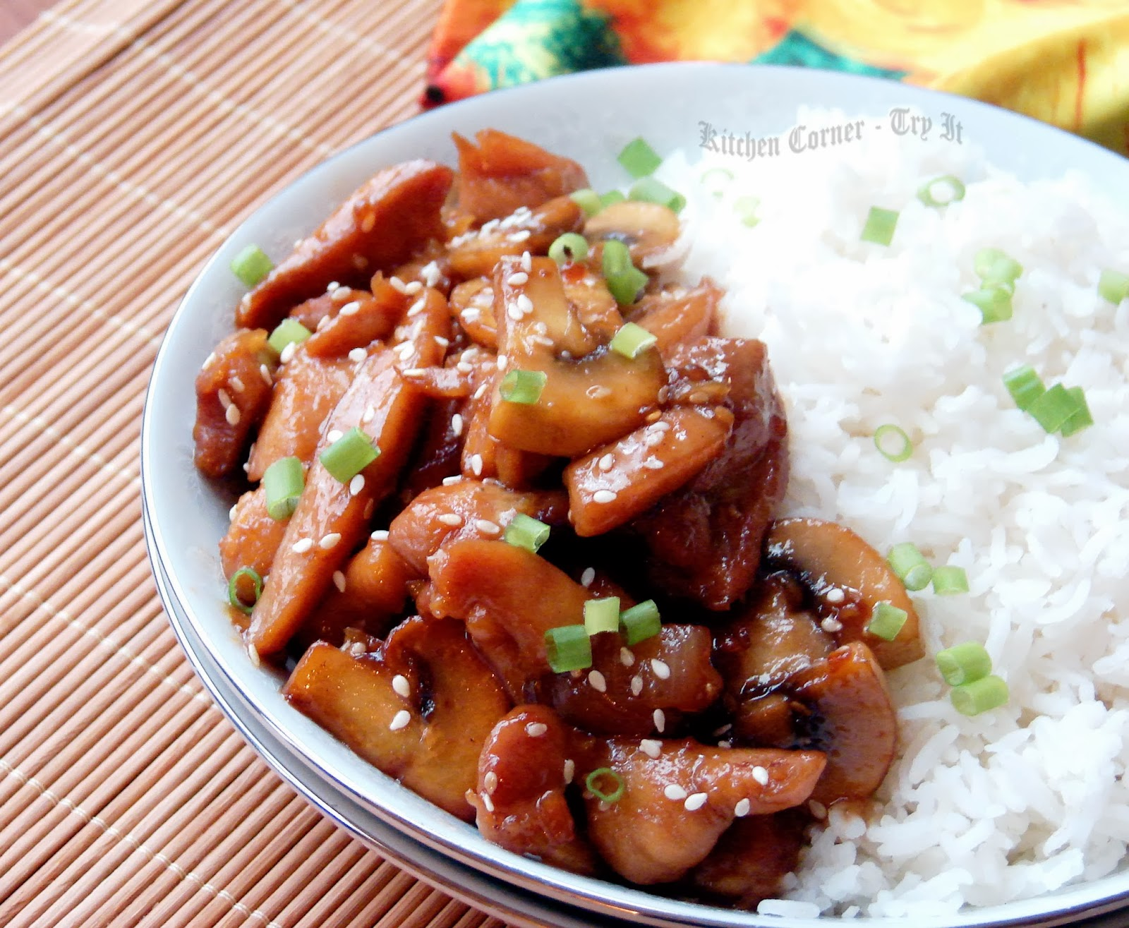 Kitchen Corner-Try It: Mushrooms and Chicken Teriyaki