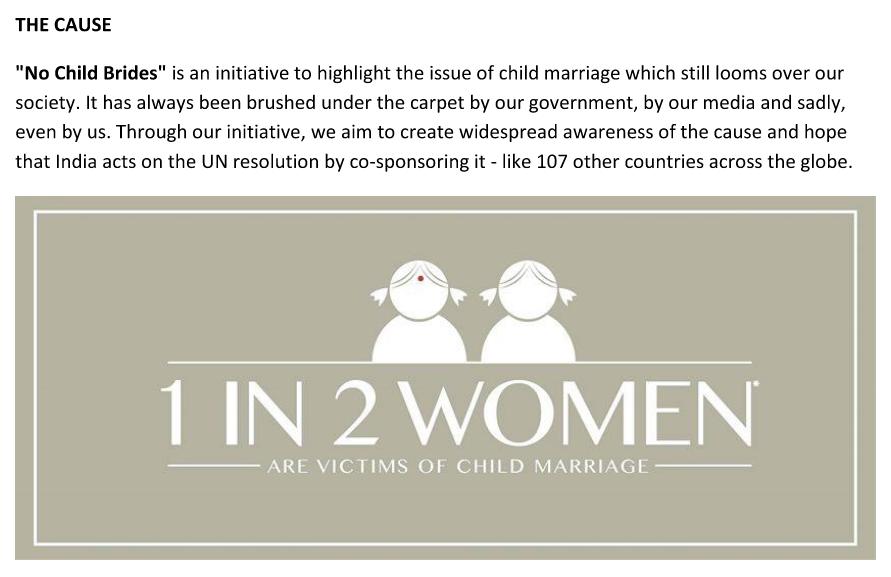 No Child Brides