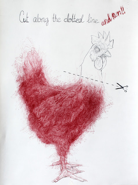 """gallina"",""cabeza"",""sin"",""mundo"",""relato"",""dibujo"",""ilustración"",""bolígrafo"",""draw"",""drawing"",""illustration"",""chicken"",""platos desechables"""
