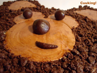 """Tarta """"Oso de chocolate y pera"""""""