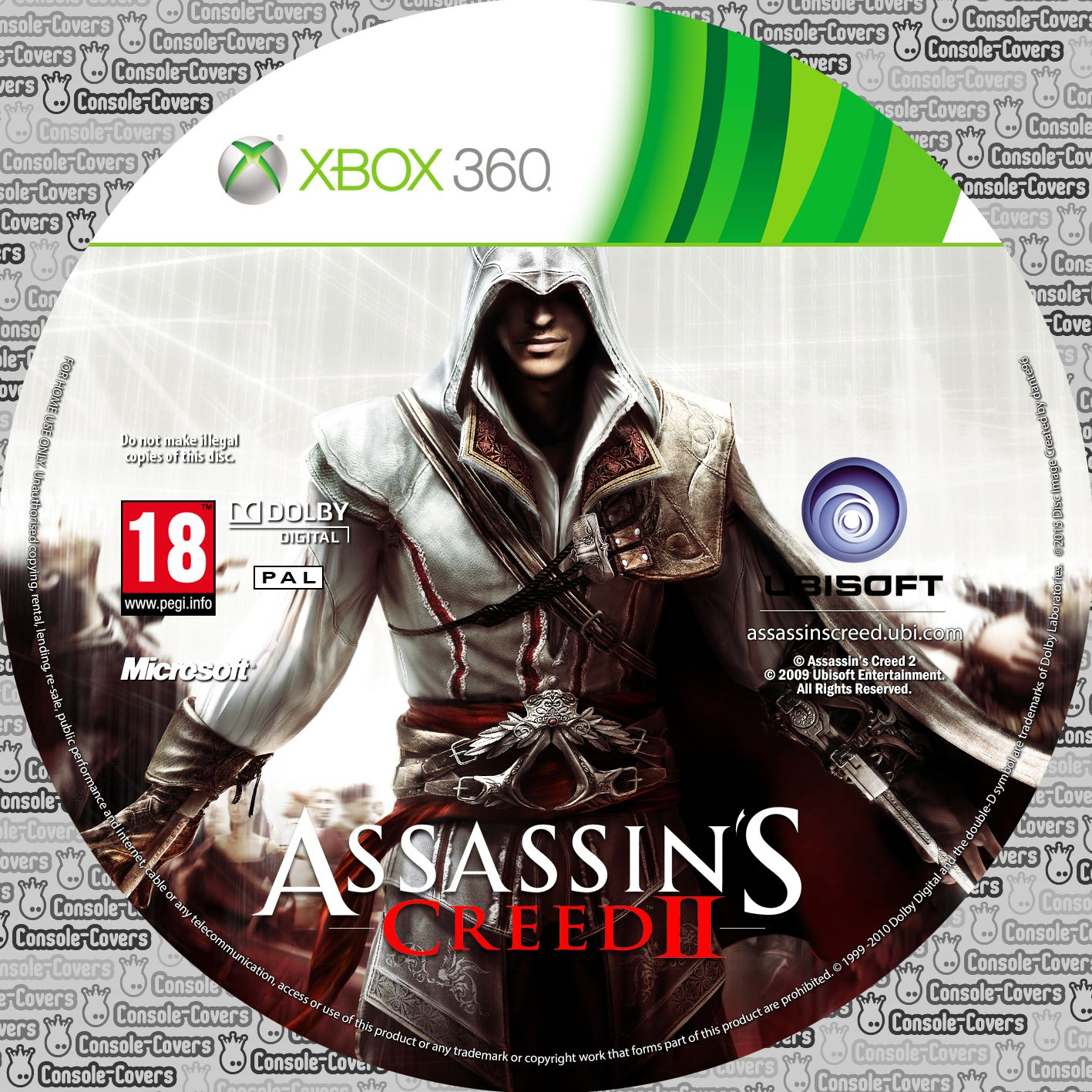 Label Assassins Creed 2 Xbox360