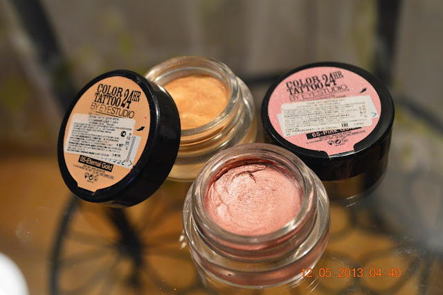 Maybelline Color Tattoo, Pink Gold, Eternal Gold, Maybelline